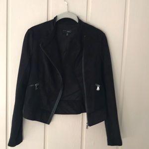 Adorable Moto Style Faux Suede Jacket